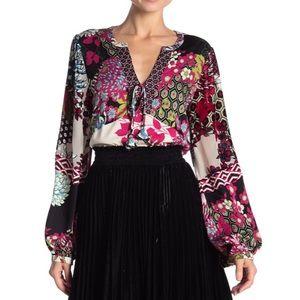 📌 Hale Bob Amberlynn Silk Burnout Silk Tunic